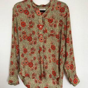 Isabel marant silk floral shirt size 36